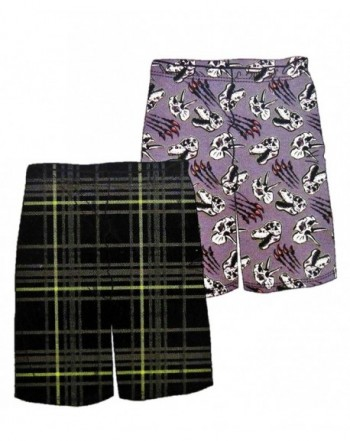 Sleep Shorts Medium Dinosaur Plaid