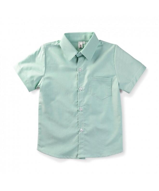 OCHENTA Little Sleeve Button Oxford