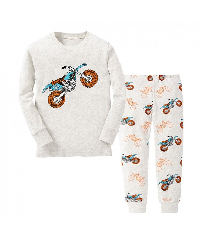 Motorcycle Pajamas Cotton Toddler Sleepwear