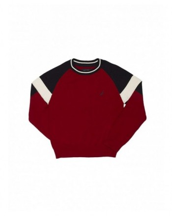 Nautica Raglan Color Crewneck Sweater