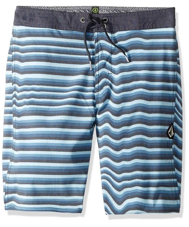 Volcom Boys Stripe Stretchy Boardshort