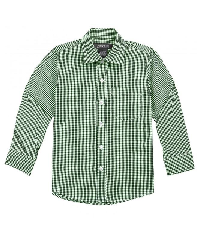 Spring Notion Sleeve Gingham Shirt