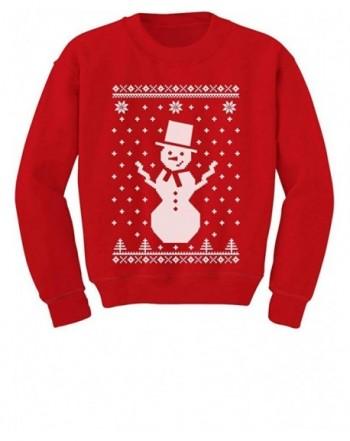 Tstars Childrens Snowman Christmas Sweatshirt