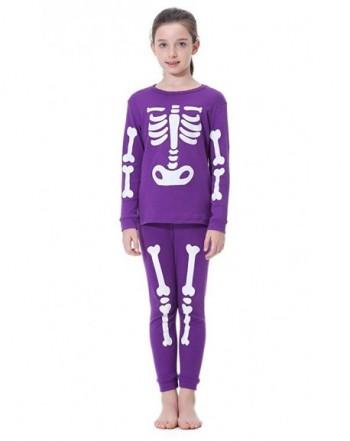 Hsctek Children Halloween Pajamas Skeleton