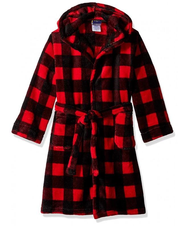 Fleece Robes for Boys - Red Buffalo Plaid - CY1829TS6TU