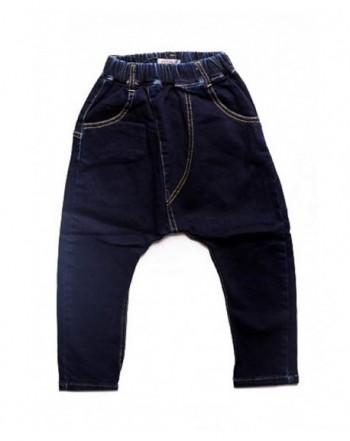 ORO Elastic Waist Jeans Harem