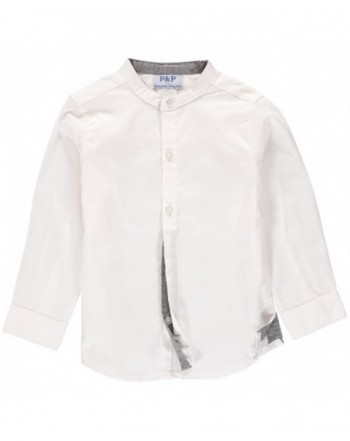Piccino Piccina Plain White Button