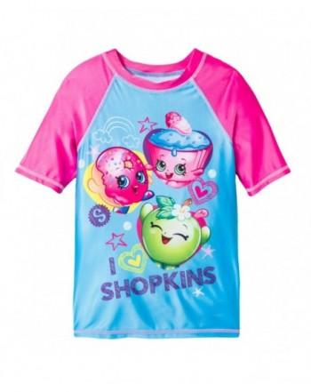 Shopkins Girls Rash Guard Swimwear