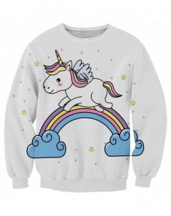 KIDVOVOU Crewneck Unicorn Sweatshirts Pullover