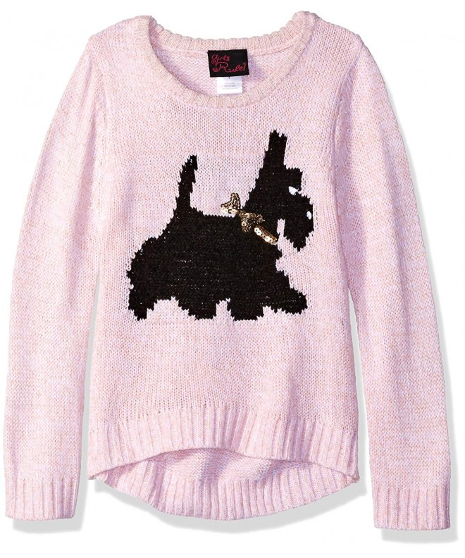 Girls Rule Scottie Dog Sweater