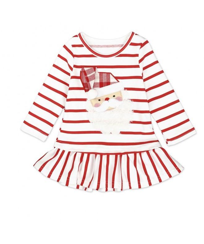 LAVMENG Toddler Cartoon Striped Dresses
