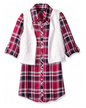 Amy Byer Girls Plaid Shirtdress
