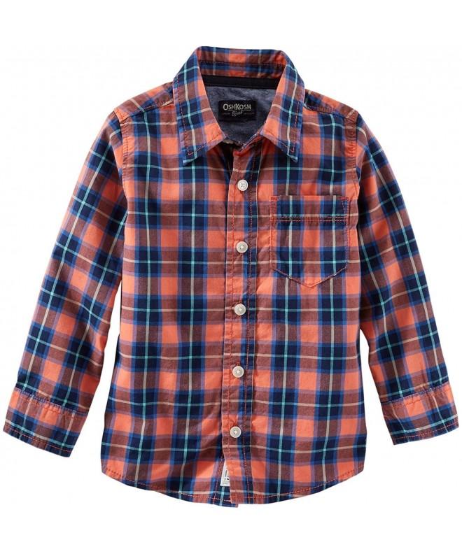 Carters Woven Plaid Shirt 463g125