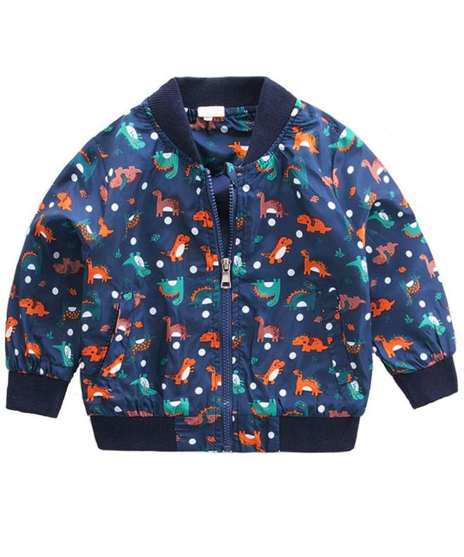 CM Kid Toddler Clothes Dinosaur Windbreaker