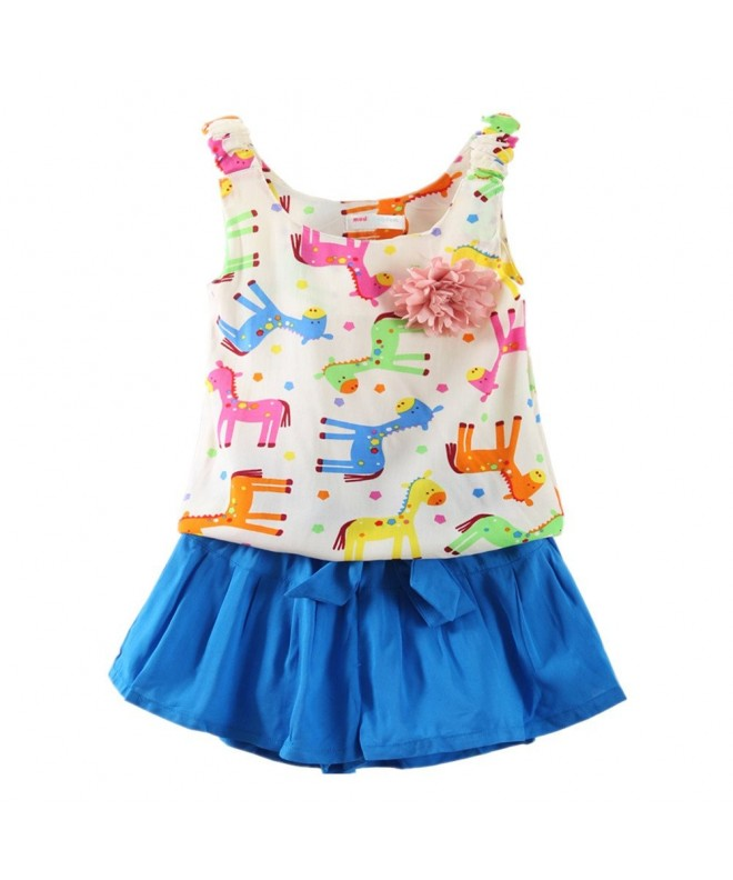 LittleSpring Little Shorts Animal Printing