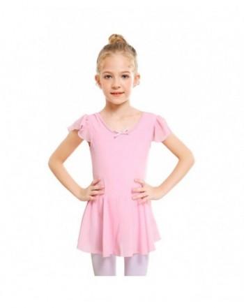 91ffa38a9 Girls' Spandex Long Sleeve Ballet Dress Toddler Dance Leotard - Blue ...