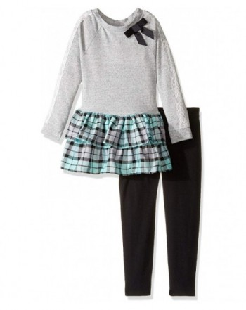Youngland Girls Tiered Woven Legging